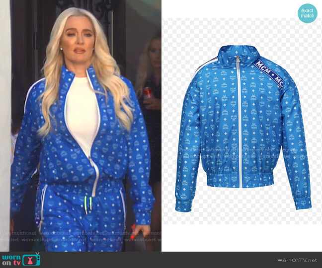 Bomber Jacket in Monogram Nylon by MCM worn by Erika Girardi  on The Real Housewives of Beverly Hills