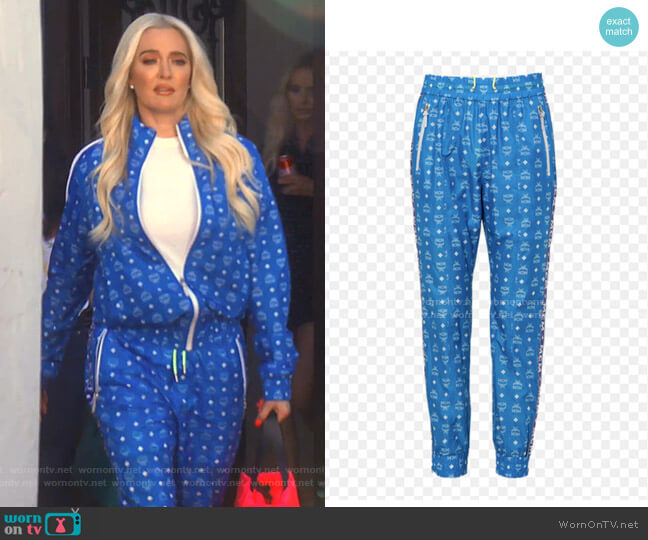 Joggers in Monogram Nylon by MCM worn by Erika Girardi  on The Real Housewives of Beverly Hills