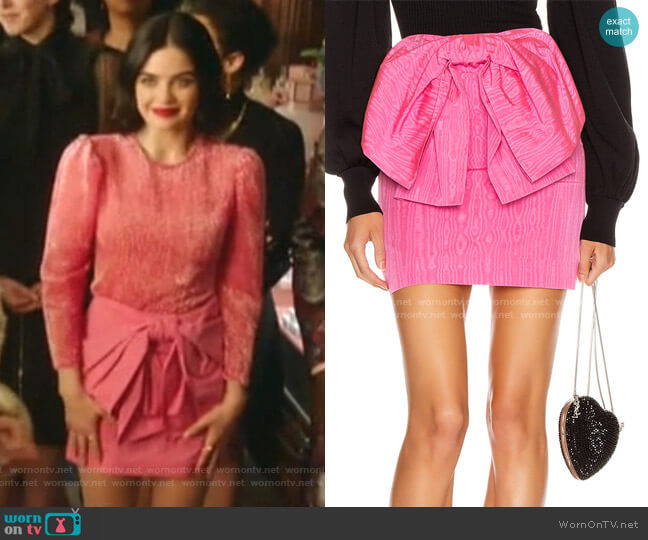 Bow Mini Skirt by MSGM worn by Katy Keene (Lucy Hale) on Katy Keene