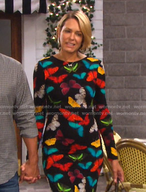 Nicole's butterfly print maxi dress on Days of our Lives