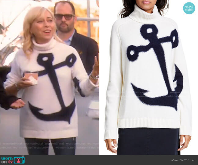 Anchor Wool & Mohair Blend Sweater by No.21 worn by Sutton Stracke  on The Real Housewives of Beverly Hills