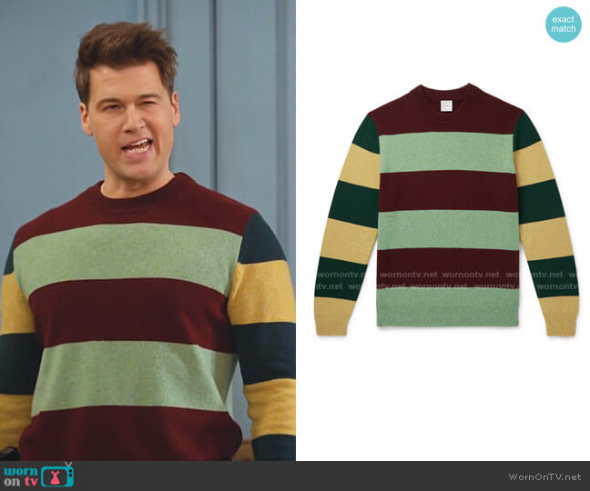 Striped Wool Sweater by Paul Smith worn by Nick Zano on Legends of Tomorrow