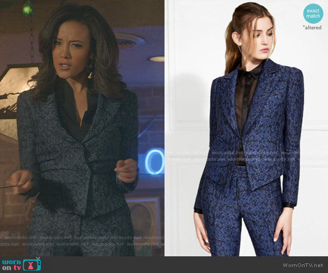 Faustine Snake Printed Blazer by Rachel Zoe worn by Maria DeLuca (Heather Hemmens) on Roswell New Mexico