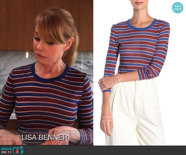 Avery Striped Cashmere-Blend Shirt by Rag and Bone worn by Lisa Benner (Marg Helgenberger) on All Rise