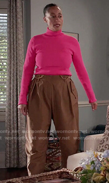 Rainbow's brown cropped cargo pants on Black-ish