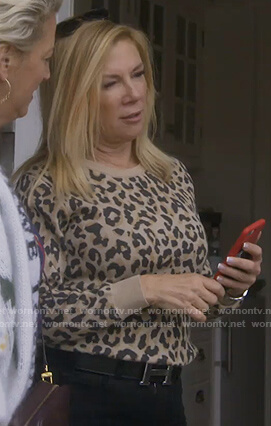 Ramona's leopard print sweatshirt on The Real Housewives of New York City