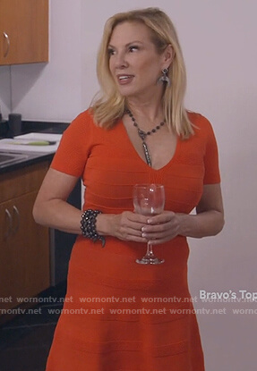 Ramona's red ribbed dress on The Real Housewives of New York City