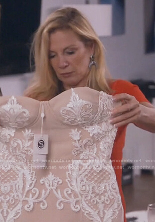 Ramona's white lace midi dress on The Real Housewives of New York City
