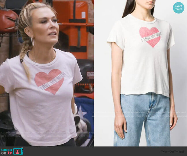 I love my mom tee by re/done worn by Tinsley Mortimer  on The Real Housewives of New York City