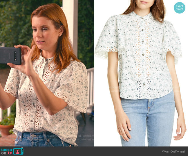 Poppy Fields Blouse by Rebecca Taylor worn by Maddie Townsend (JoAnna Garcia Swisher) on Sweet Magnolias