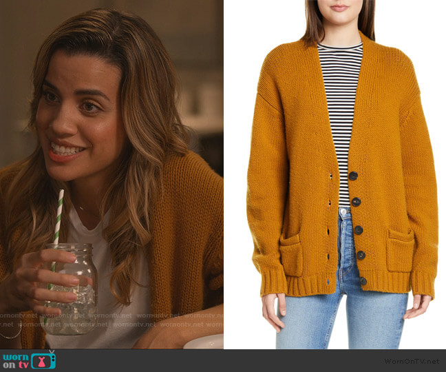 90s Wool & Cashmere Cardigan by Re/done worn by Natalie Morales on Dead to Me