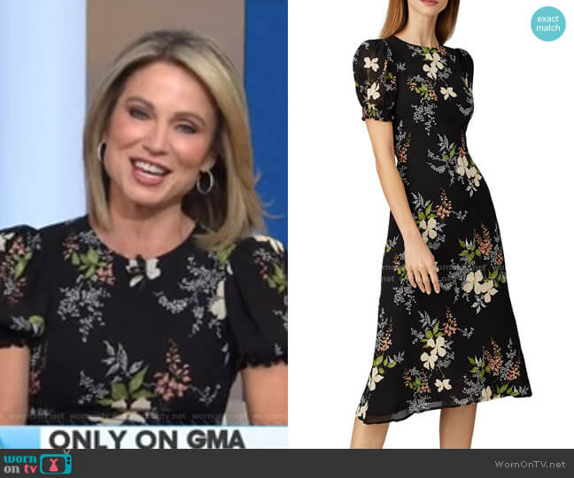 Floral Lee Dress by Reformation worn by Amy Robach  on Good Morning America