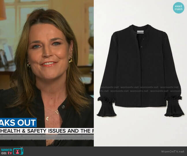 Ruffled Blouse by Co worn by Savannah Guthrie  on Today