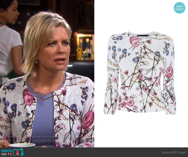 Sakura Cardigan by Karen Millen worn by Kayla Brady (Mary Beth Evans) on Days of our Lives