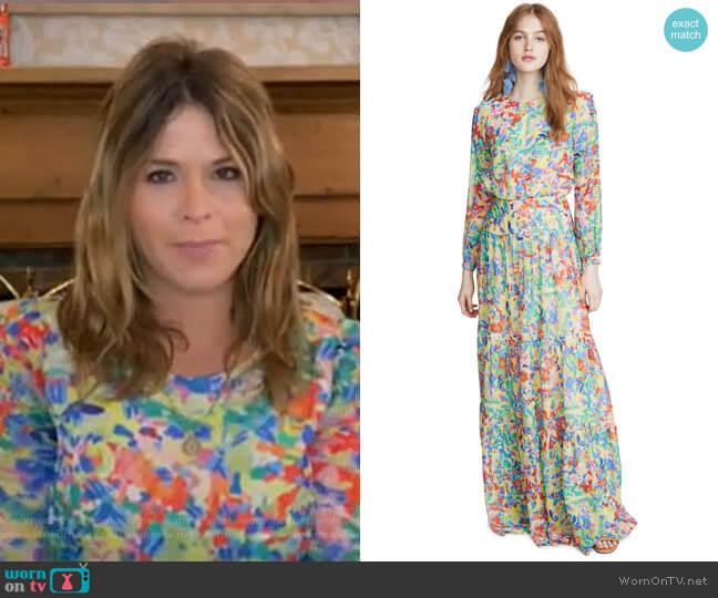 Isabel Long Dress by Saloni worn by Jenna Bush Hager  on Today