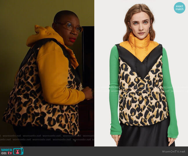 Color Block Vest by Scotch & Soda worn by Henrietta Wilson (Aisha Hinds) on 9-1-1