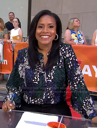 Sheinelle's mixed print blouse on Today