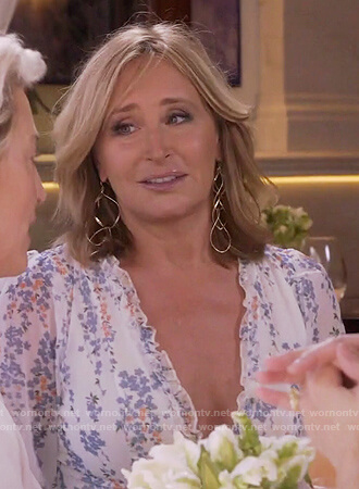 Sonja's white floral dress on The Real Housewives of New York City