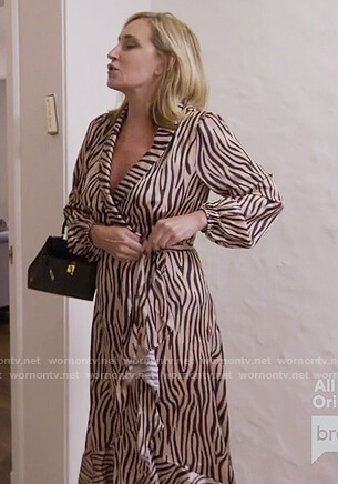 Sonja's zebra wrap dress on The Real Housewives of New York City