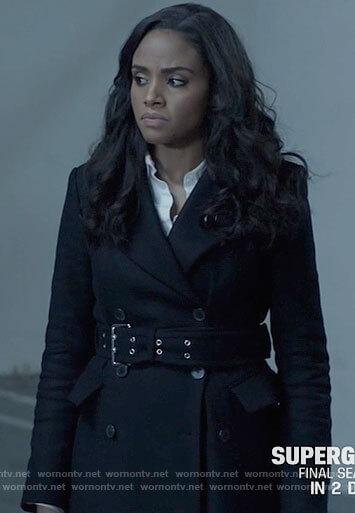 Sophie's black belted coat on Batwoman
