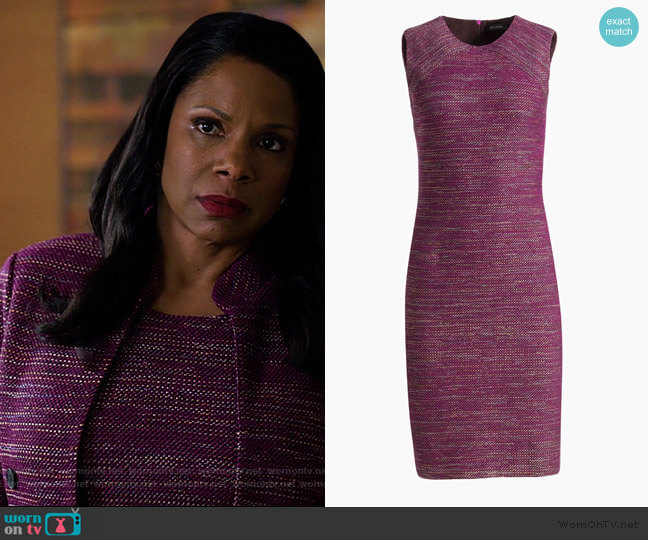 Ombre Ribbon Tweed Dress by St. John worn by Liz Reddick-Lawrence (Audra McDonald) on The Good Fight