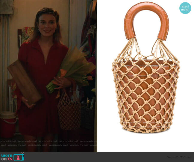 Moreau Tote Bag by Staud worn by Noa Hamilton (Nathalie Kelley) on The Baker & the Beauty