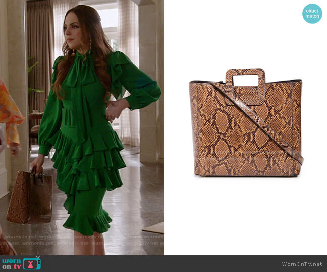 Shirley Bag by Staud worn by Fallon Carrington (Elizabeth Gillies) on Dynasty