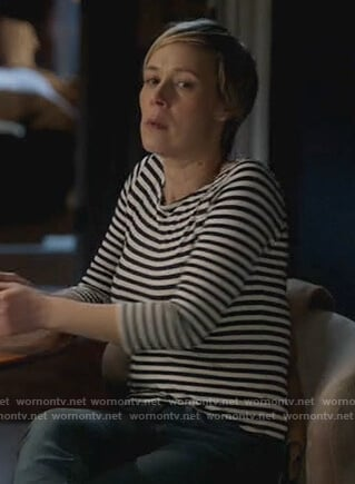 Bonnie's stripe t-shirt on How to Get Away with Murder