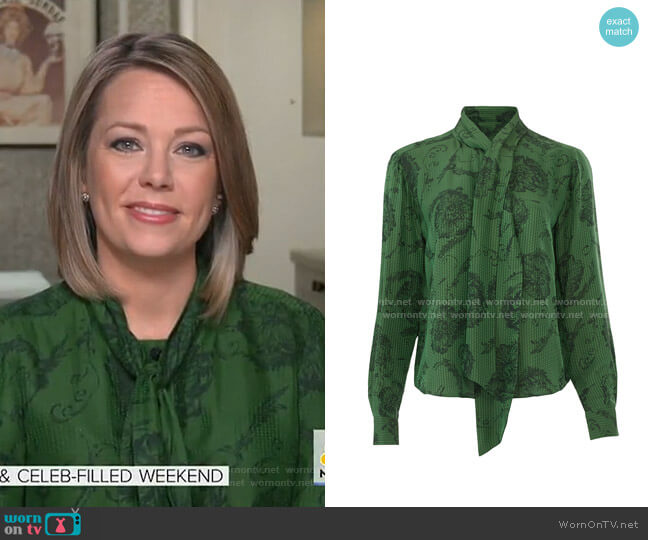 Plant Print Top by Tara Jarmon worn by Dylan Dreyer  on Today