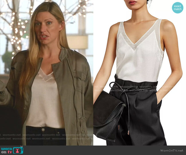 Lilyane Mesh-Trimmed Top by Ted Baker worn by Ava Sharpe (Jes Macallan) on Legends of Tomorrow