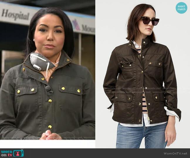 The Downtown Field Jacket by J.Crew worn by Stephanie Ramos on GMA