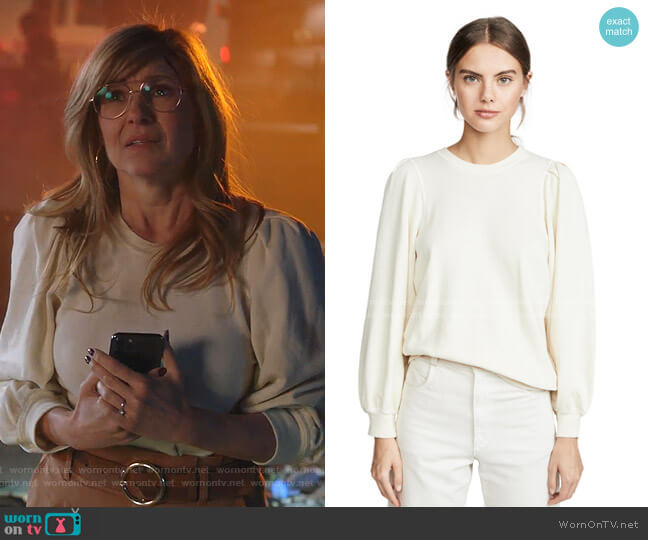 The Pleat Sleeve Sweatshirt by The Great worn by Abby Clark (Connie Britton) on 9-1-1