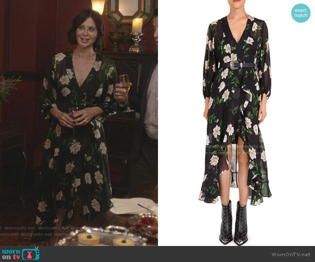 Allure Midi Dress by The Kooples worn by Cassandra Nightingale (Catherine Bell) on Good Witch