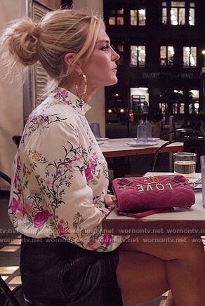 Sonja's velvet Love Gucci bag on The Real Housewives of New York City