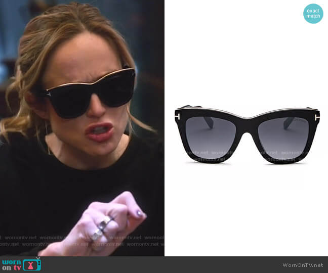 Julie Square Sunglasses by Tom Ford worn by Sara Lance (Caity Lotz) on Legends of Tomorrow