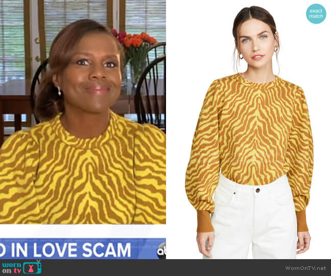 Massey Pullover by Ulla Johnson worn by Deborah Roberts  on Good Morning America