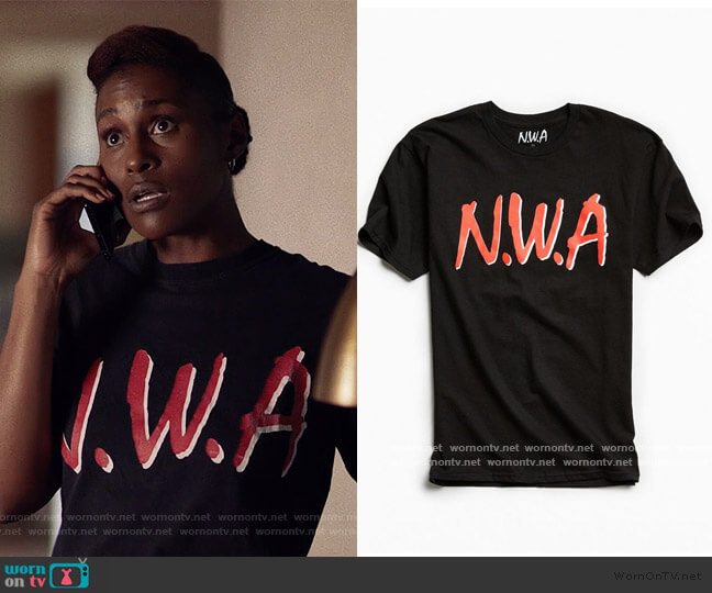 Straight Outta Compton Tee by Urban Outfitters worn by Issa Dee (Issa Rae) on Insecure