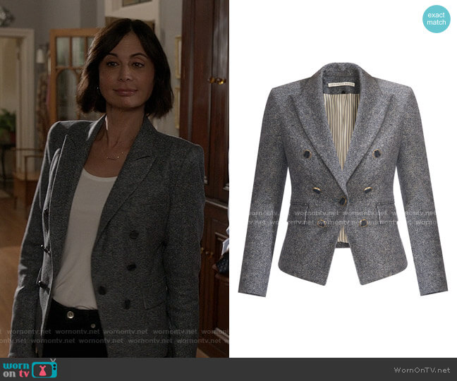 Diego Dickey Jacket by Veronica Beard worn by Cassandra Nightingale (Catherine Bell) on Good Witch
