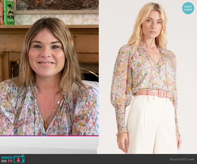Jaz Blouse by Veronica Beard worn by Jenna Bush Hager  on Today
