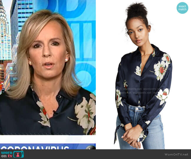 Gardenia Floral Blouse by Vince worn by Jennifer Ashton on GMA