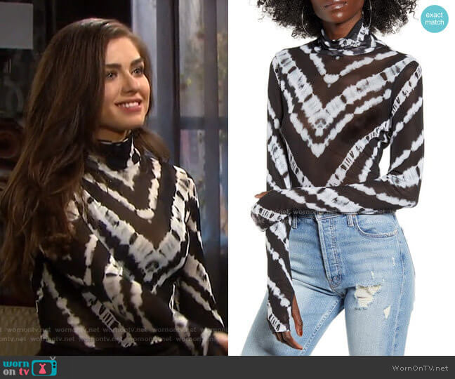 Zadie Semi Sheer Turtleneck by AFRM worn by Ciara Brady (Victoria Konefal) on Days of our Lives