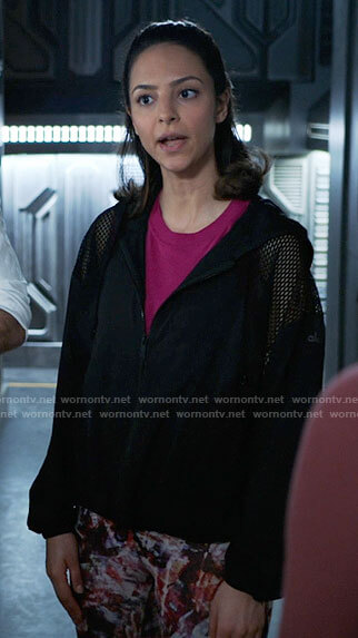 Sara's black button down shirt on Legends of Tomorrow