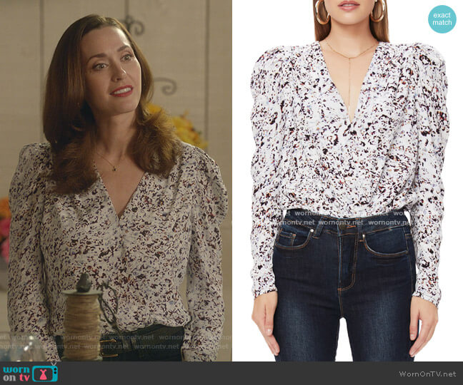 Nora Thong Bodysuit by AFRM worn by Abigail Pershing (Sarah Power) on Good Witch