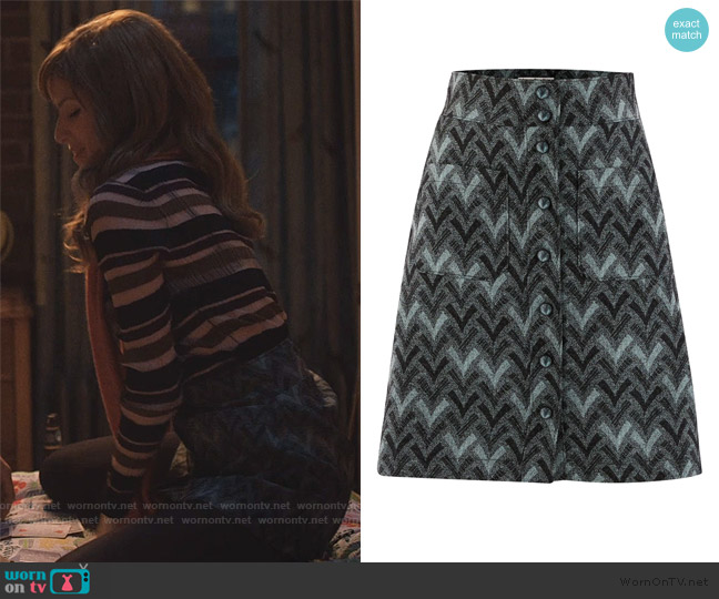 Isodora skirt by Acne Studios worn by Darby (Anna Kendrick) on Love Life