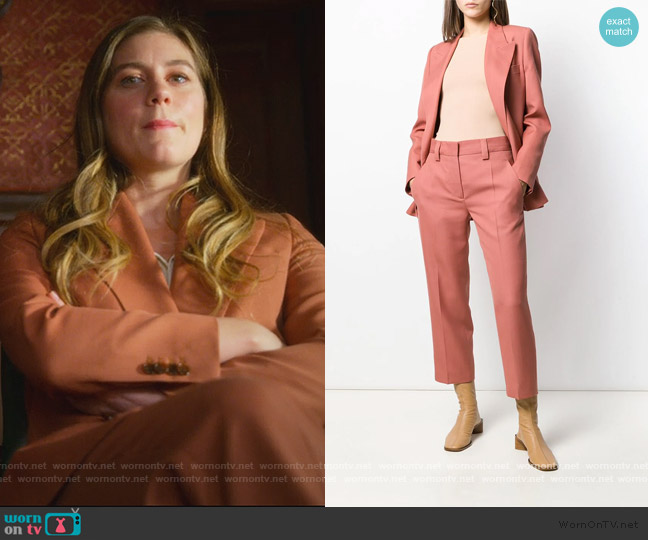 Suit Jacket and Pants by Acne Studios worn by McAfee (Laura Dreyfuss) on The Politician