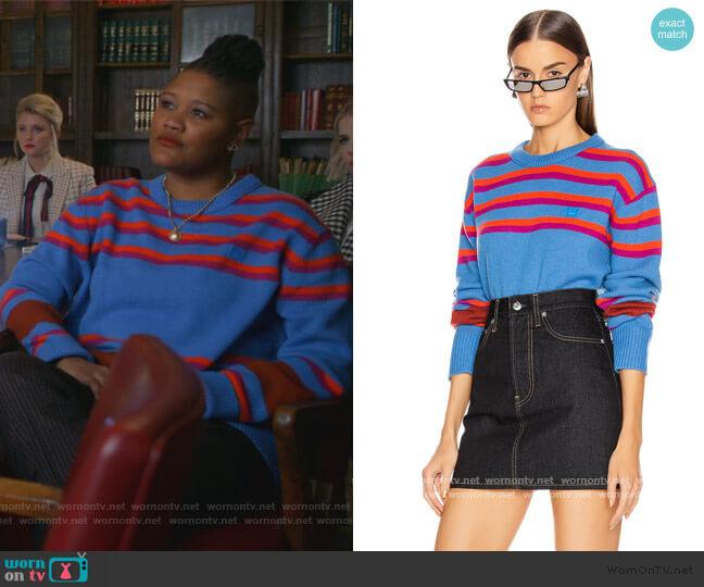 Nimah Stripe Sweater by Acne Studios worn by Skye (Rahne Jones) on The Politician