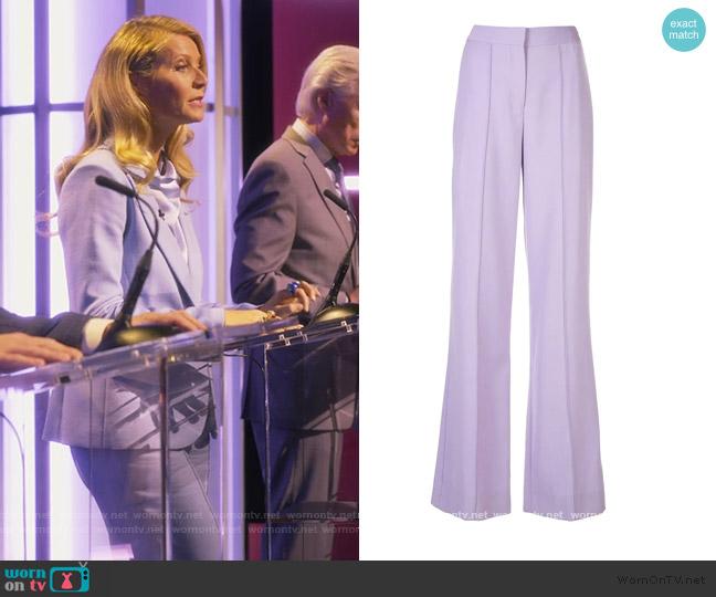 Pintuck Wide-leg Trousers by Adam Lippes worn by Georgina Hobart (Gwyneth Paltrow) on The Politician
