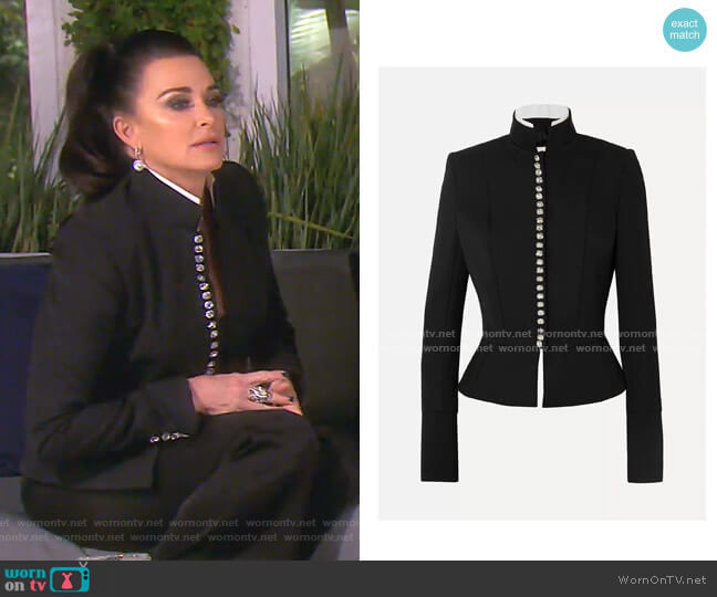 Jewel Button Blazer by Alexandre Vauthier worn by Kyle Richards  on The Real Housewives of Beverly Hills
