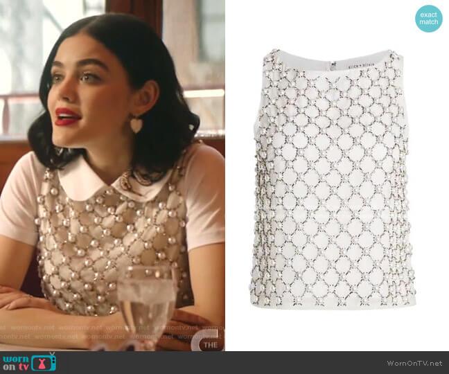 Amal Embellished Top by Alice + Olivia worn by Katy Keene (Lucy Hale) on Katy Keene