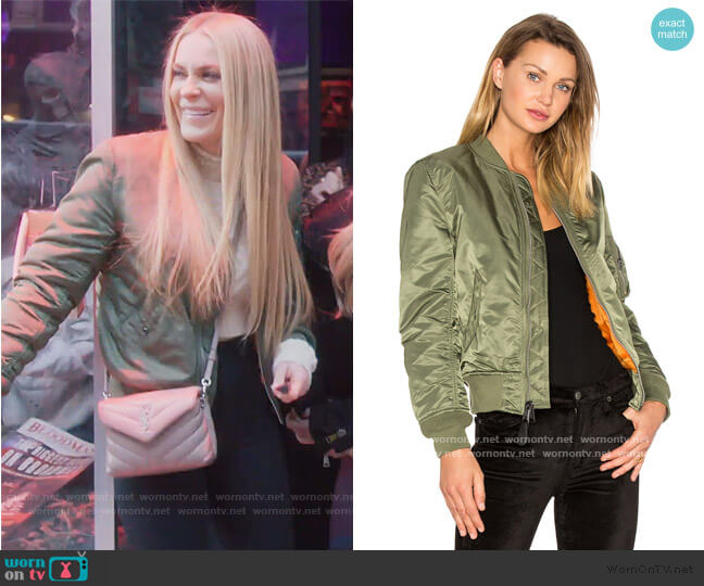 Ma-1 W Bomber by Alpha Industries worn by Leah McSweeney  on The Real Housewives of New York City